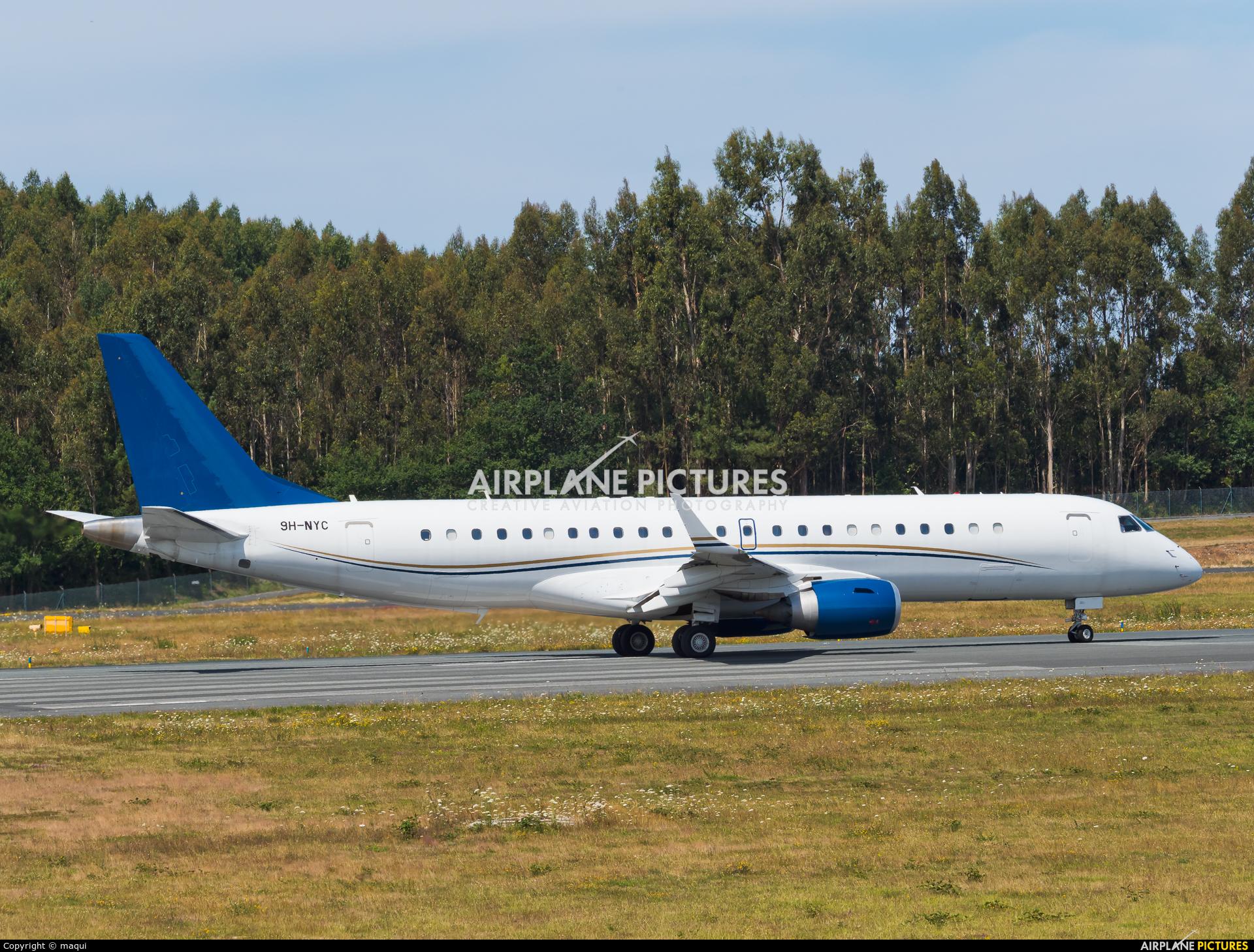 AIR X Charter 9H-NYC aircraft at Santiago de Compostela