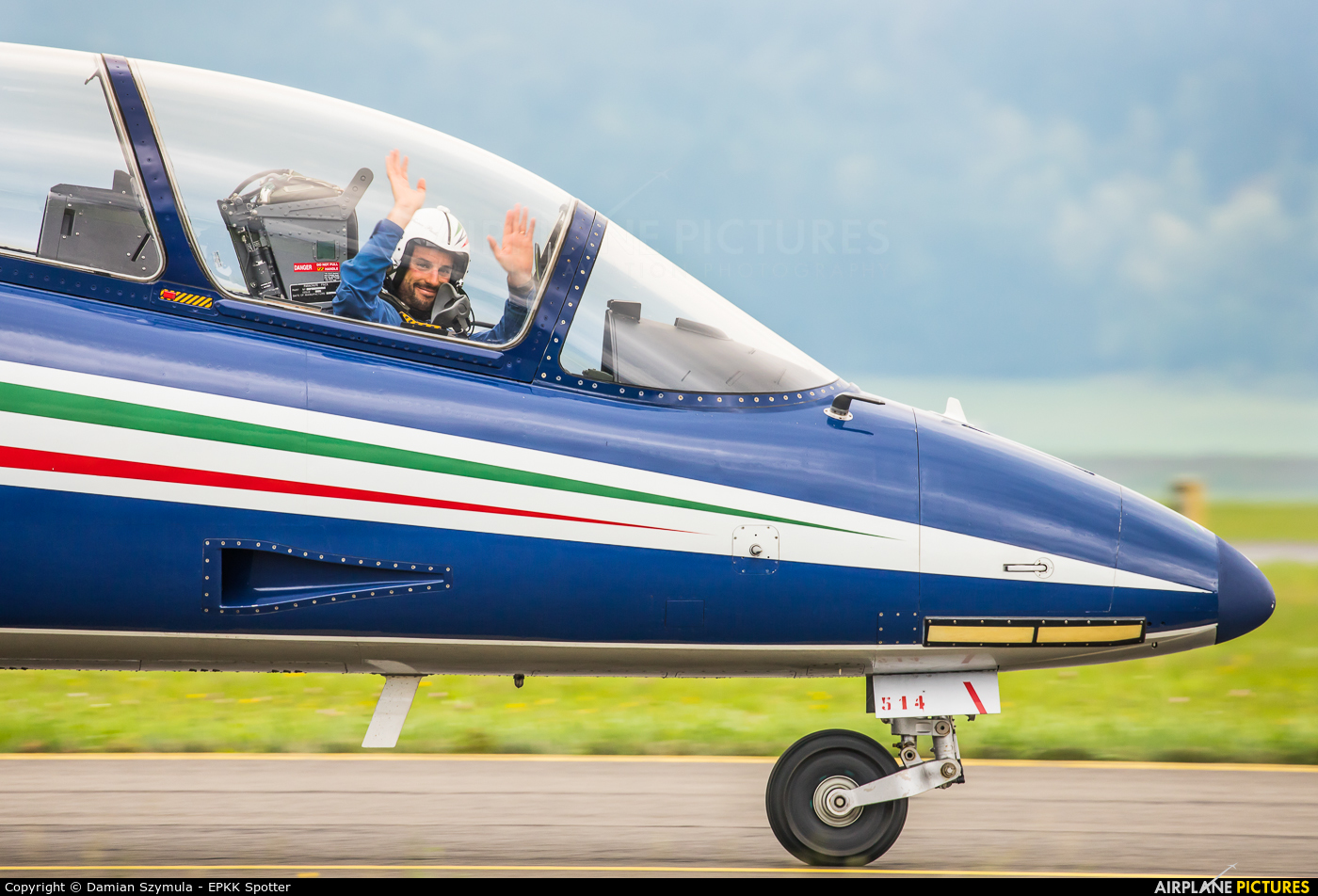 """Italy - Air Force """"Frecce Tricolori"""" M.M 54514 aircraft at Zeltweg"""