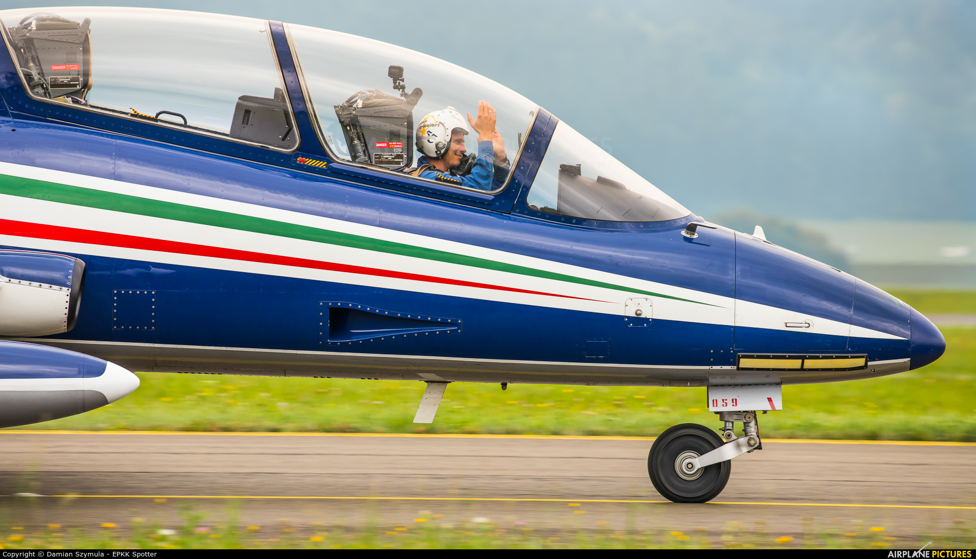 """Italy - Air Force """"Frecce Tricolori"""" MM55059 aircraft at Zeltweg"""