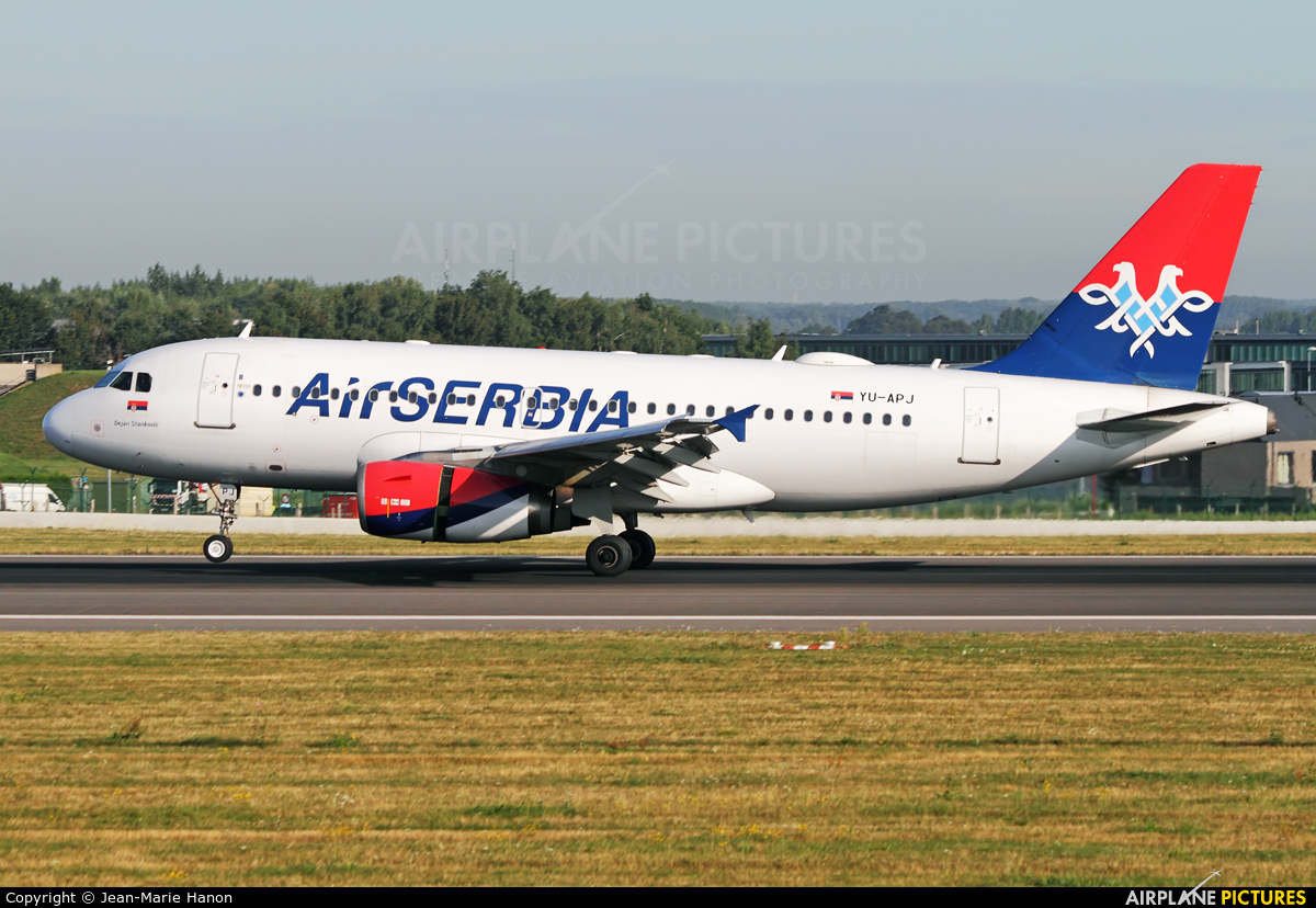 Air Serbia YU-APJ aircraft at Brussels - Zaventem