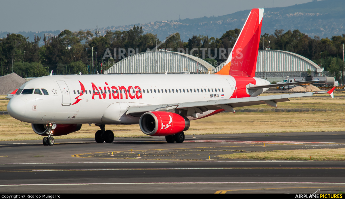 Avianca N495TA aircraft at Mexico City - Licenciado Benito Juarez Intl