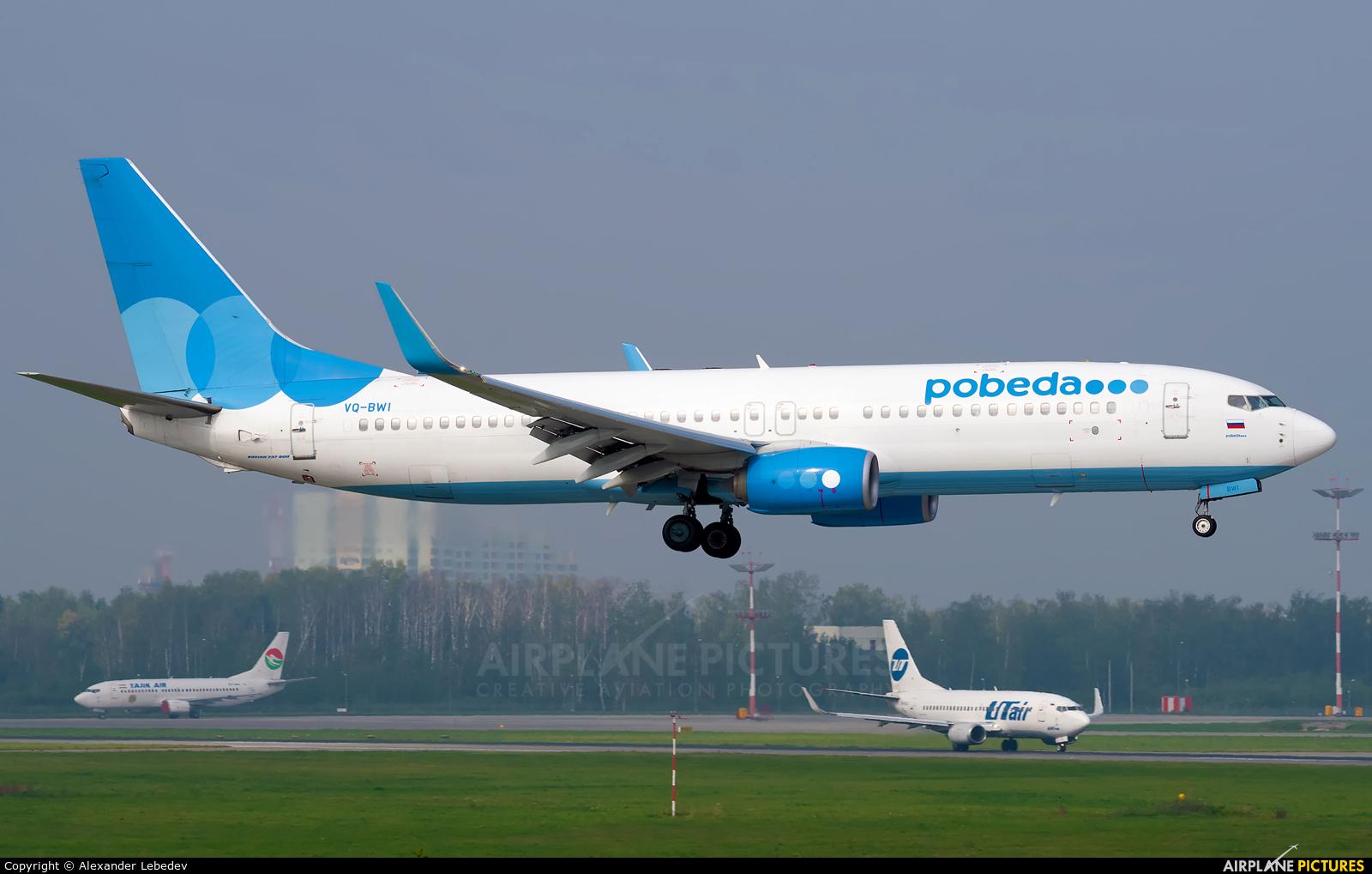 Pobeda VQ-BWI aircraft at Moscow - Vnukovo