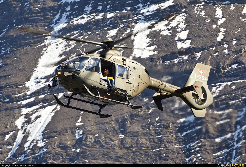 Switzerland - Air Force T-354 aircraft at Ebenfluhe Range, Axalp
