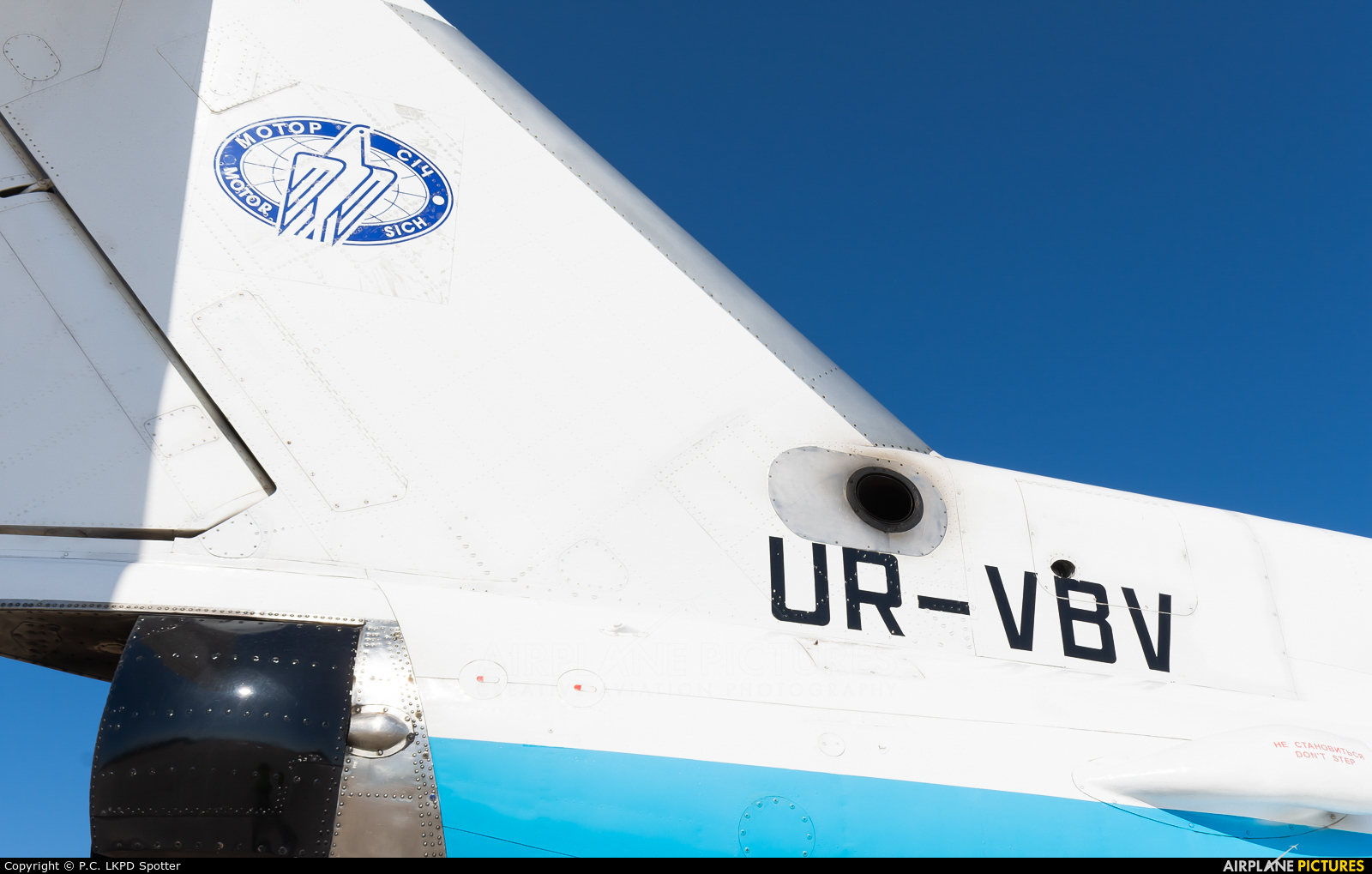 Motor Sich UR-VBV aircraft at Pardubice