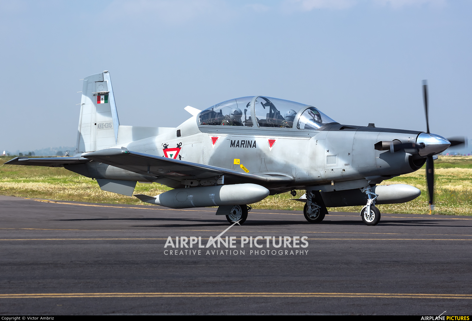 Mexico - Navy ANX-1315 aircraft at Santa Lucia AB
