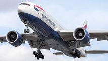 G-VIIA - British Airways Boeing 777-200 aircraft