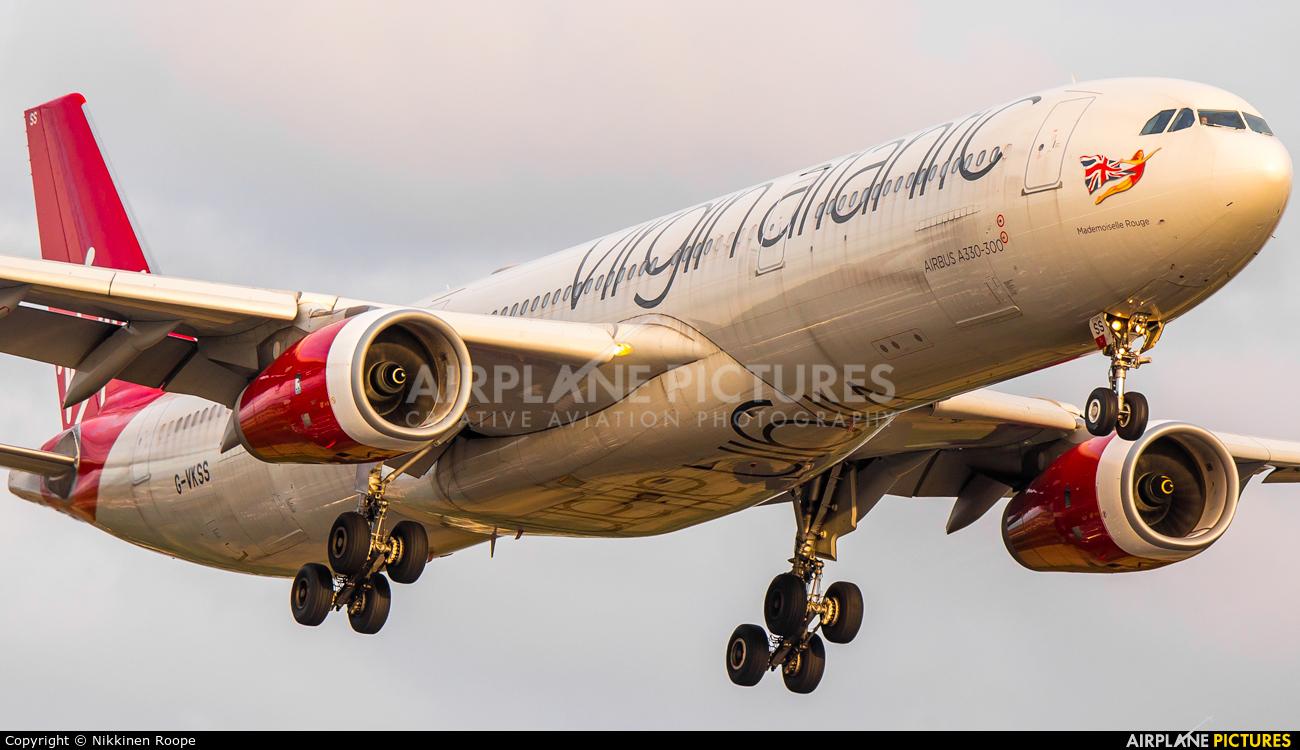 Virgin Atlantic G-VKSS aircraft at London - Heathrow