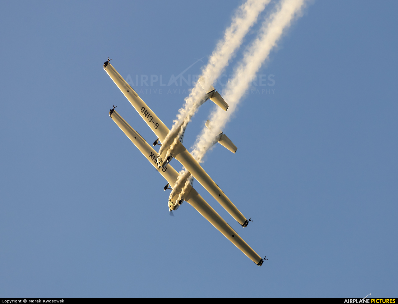 Aerosparx Display Team G-CINO aircraft at Leszno - Strzyżewice