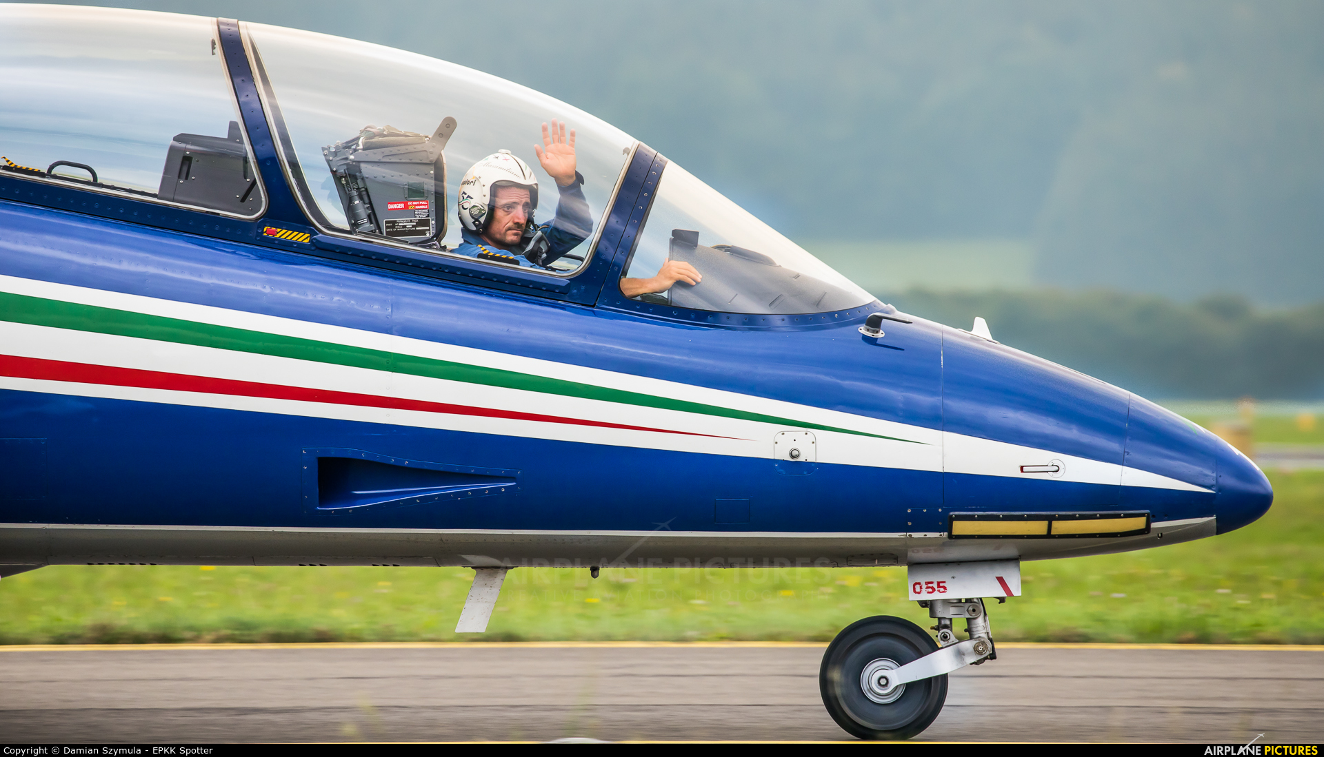 """Italy - Air Force """"Frecce Tricolori"""" MM55055 aircraft at Zeltweg"""