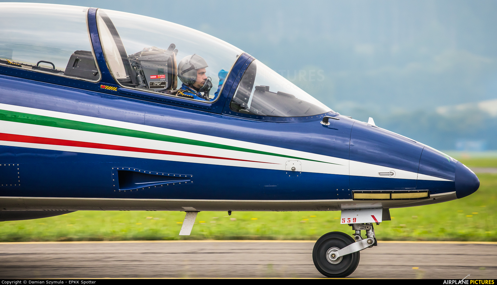 "Italy - Air Force ""Frecce Tricolori"" MM55539 aircraft at Zeltweg"