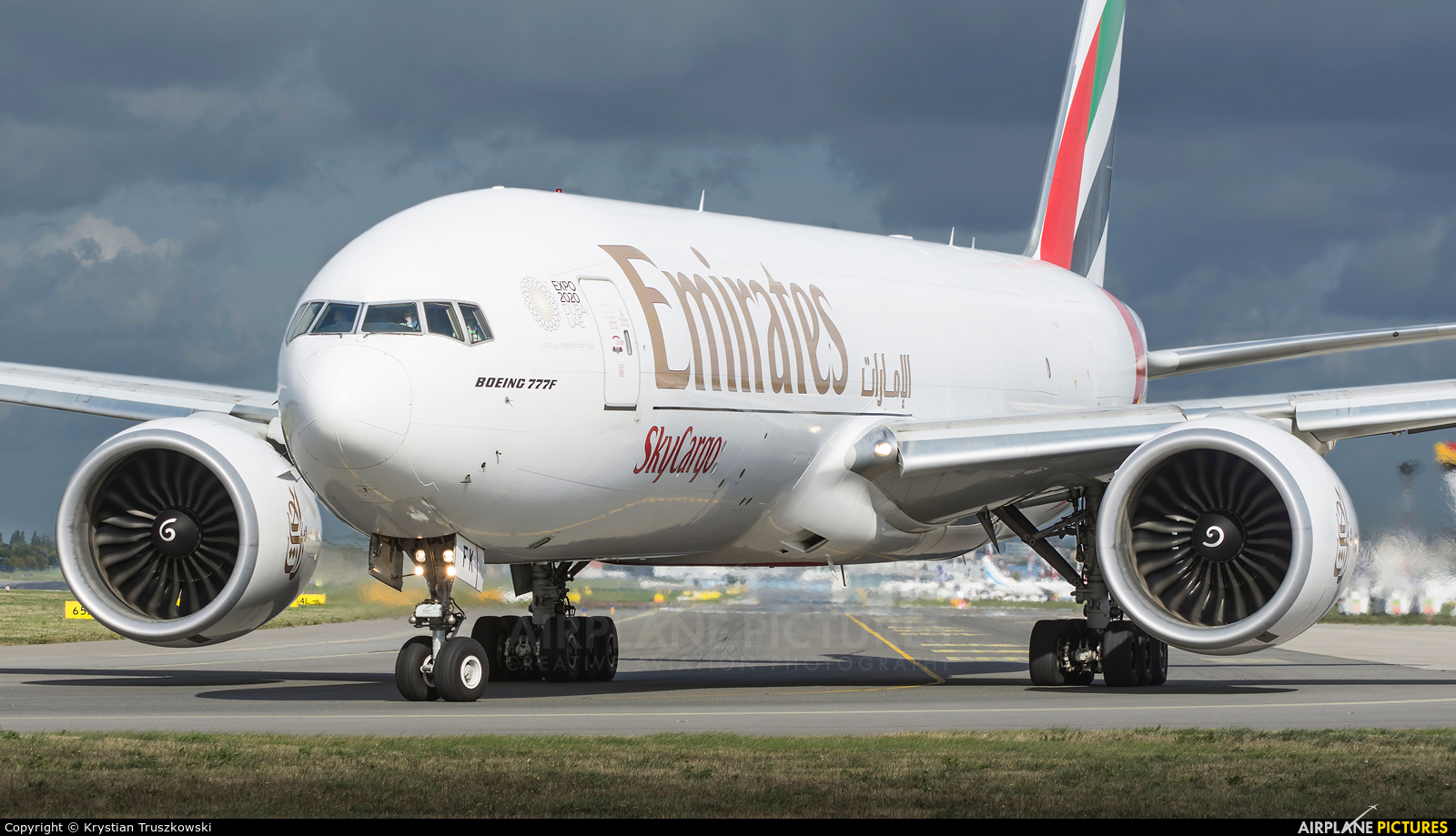 Emirates Sky Cargo A6-EFK aircraft at Warsaw - Frederic Chopin