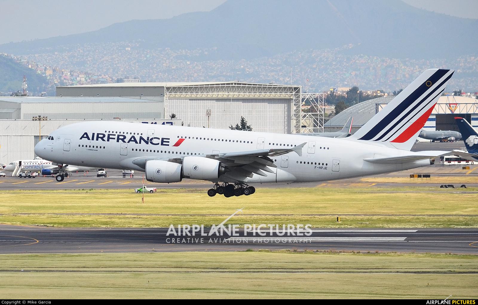 Air France F-HPJE aircraft at Mexico City - Licenciado Benito Juarez Intl