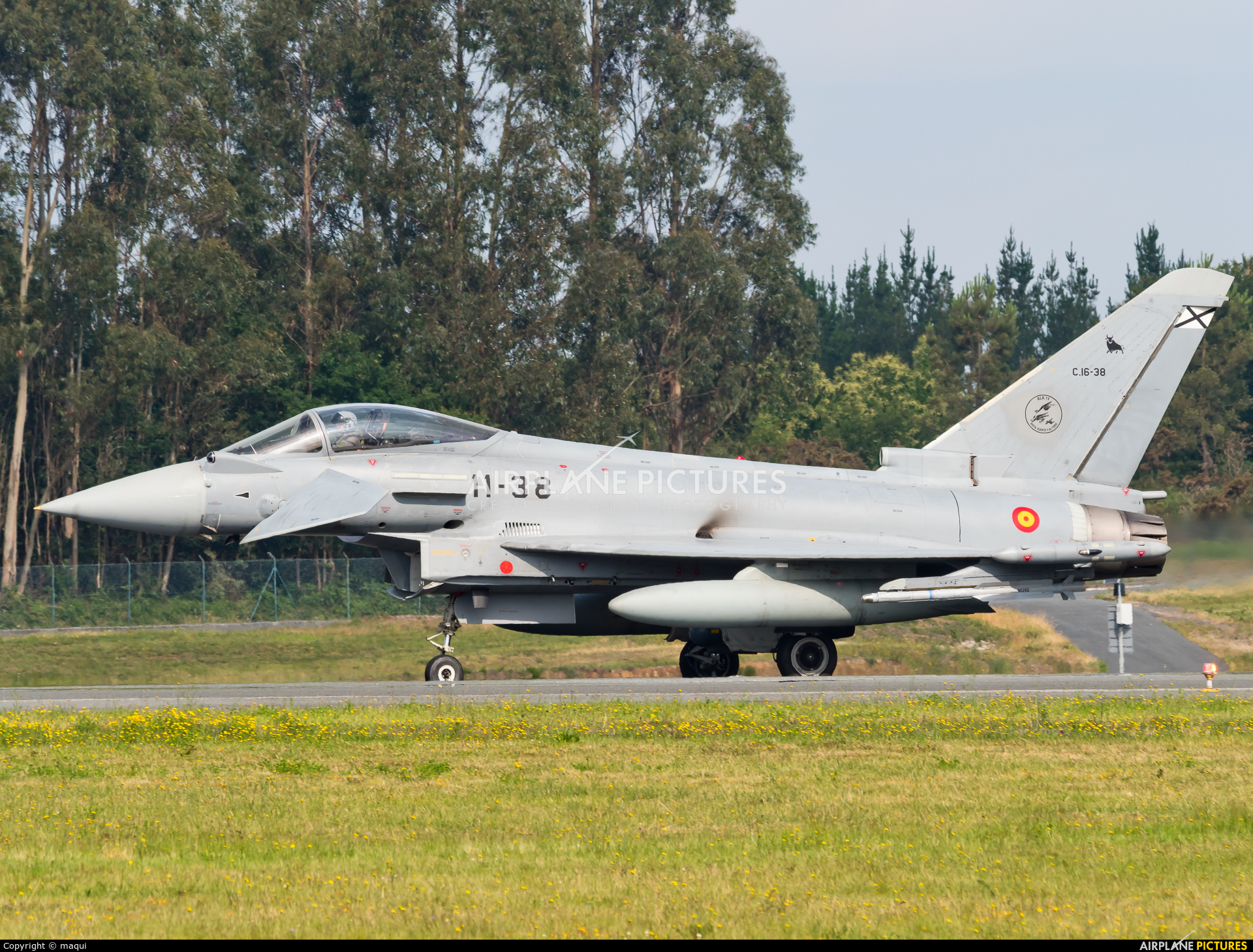 Spain - Air Force C.16-38 aircraft at Santiago de Compostela