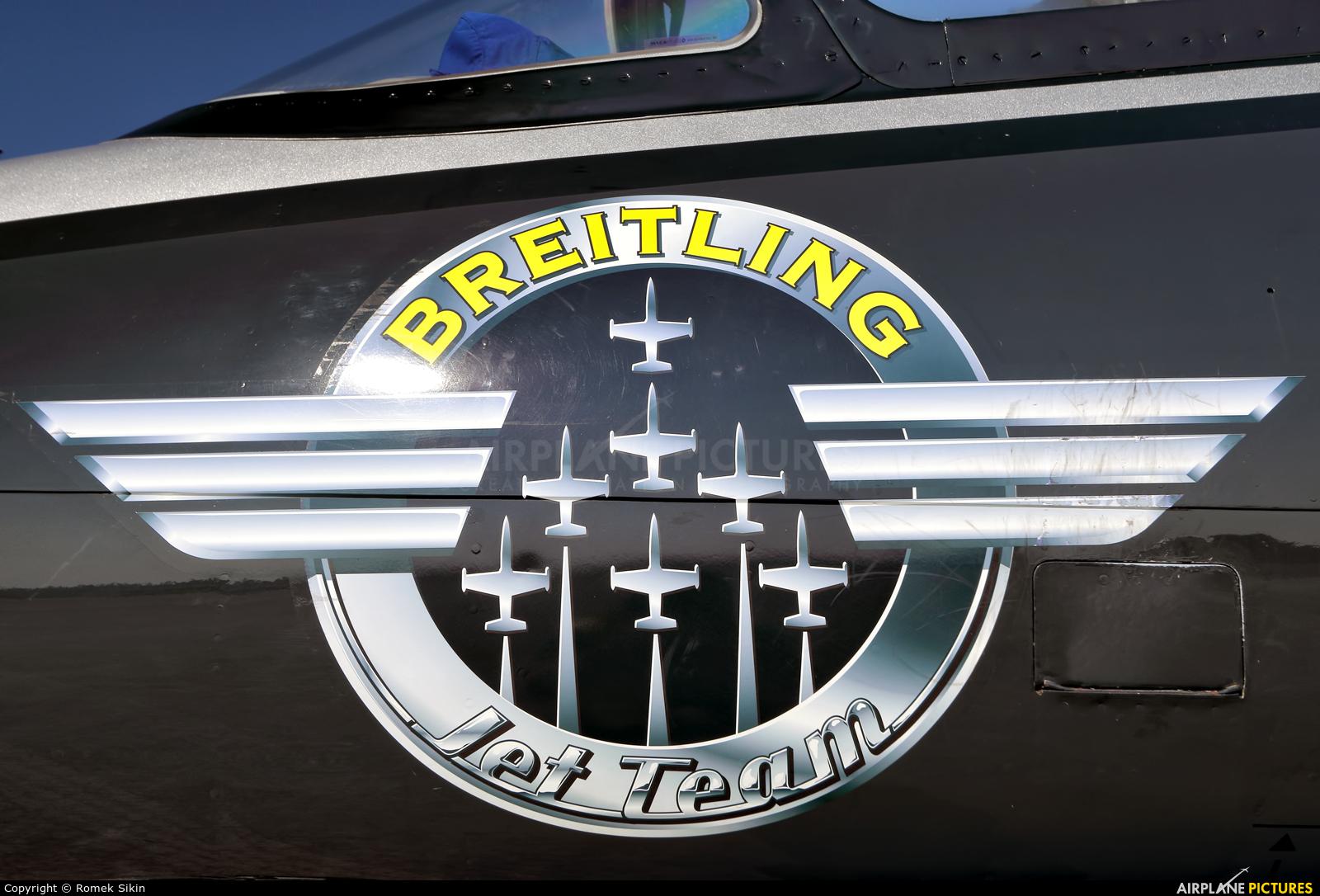 Breitling Jet Team ES-TLF aircraft at Hradec Králové