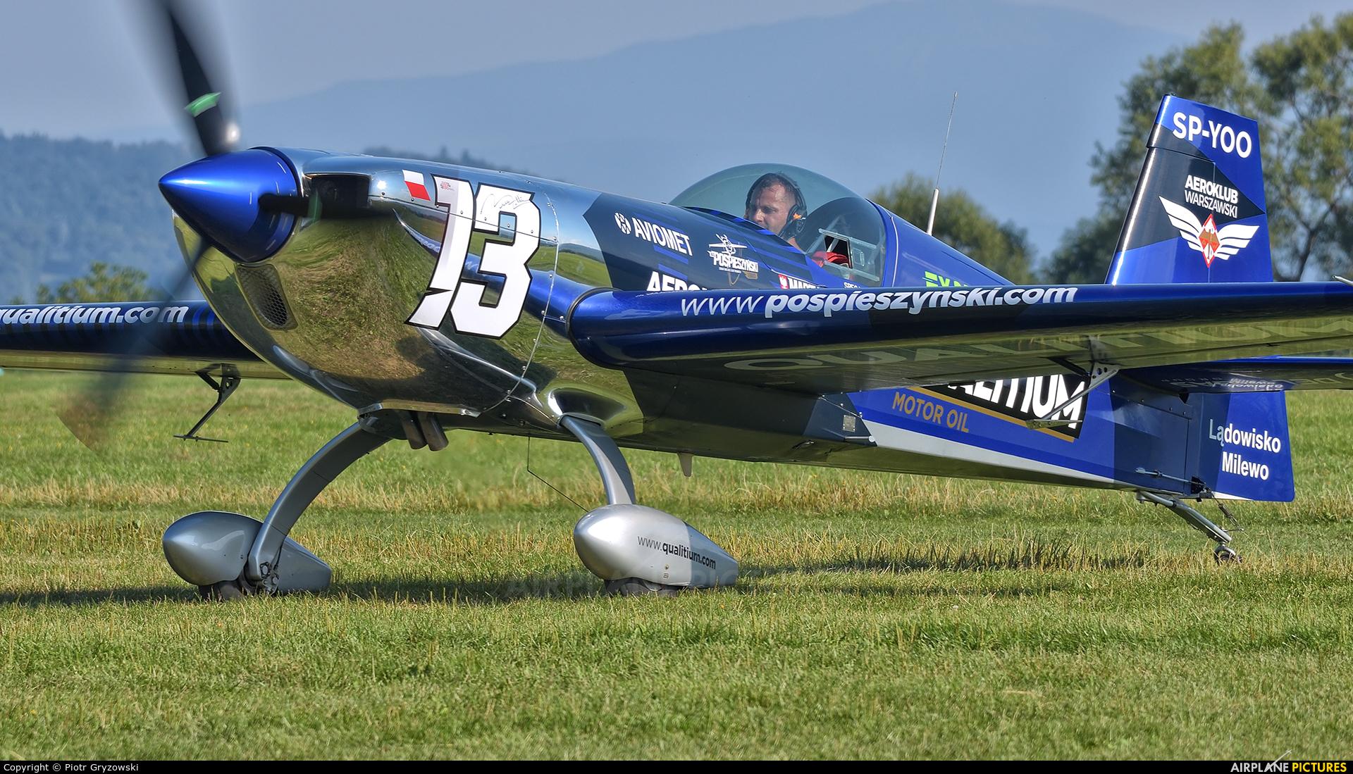 Maciej Pospieszyński - Aerobatics SP-YOO aircraft at Bielsko-Biała - Aleksandrowice