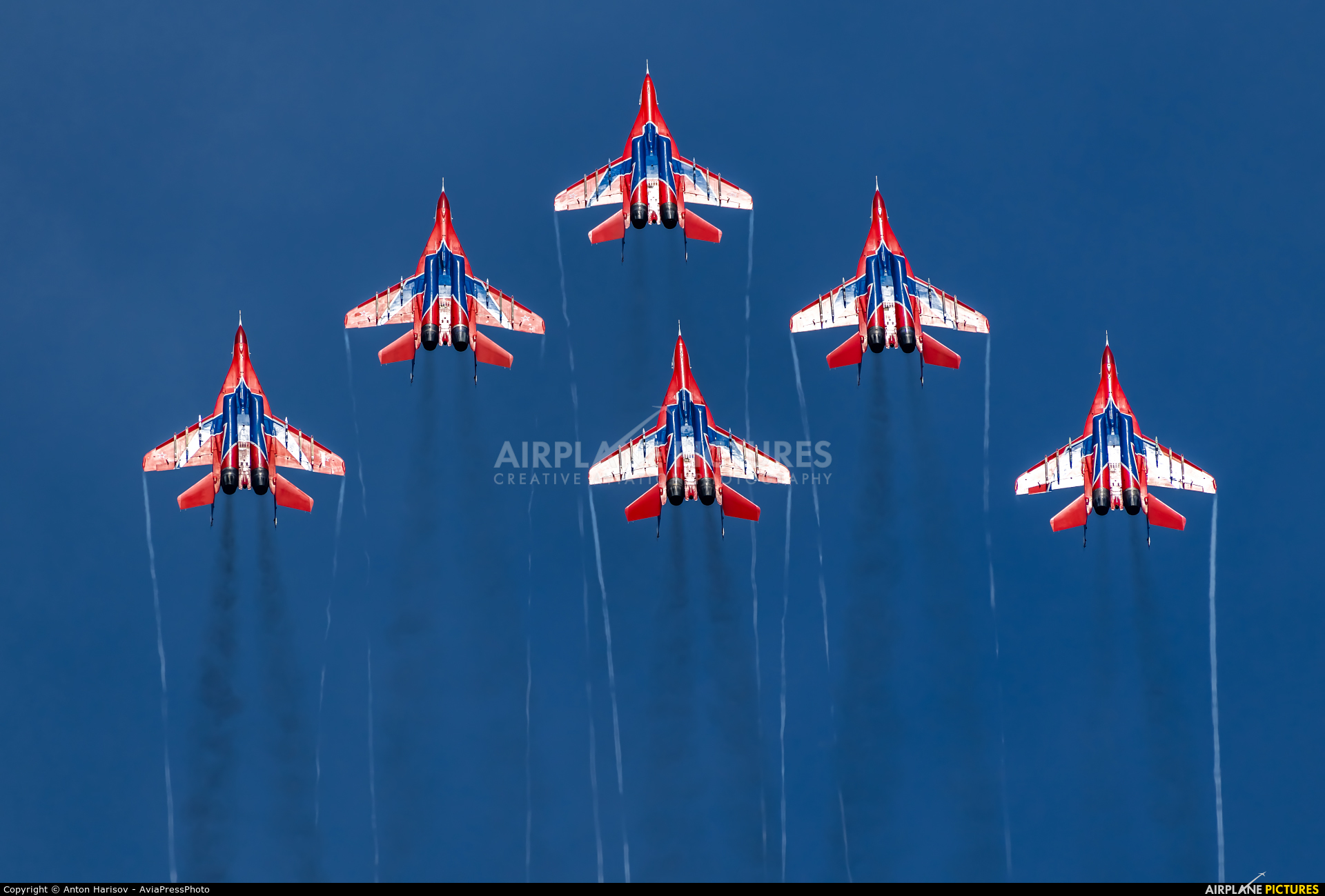 "Russia - Air Force ""Strizhi"" 02 aircraft at Chelyabinsk Shagol"