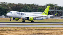 YL-AAS - Air Baltic Airbus A220-300 aircraft