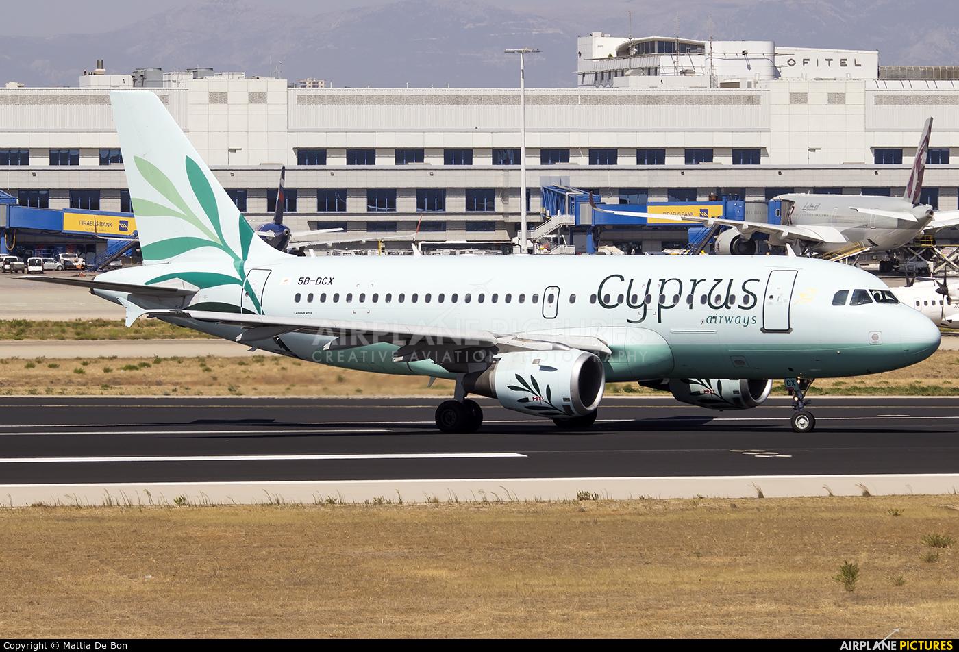 Cyprus Airways 5B-DCX aircraft at Athens - Eleftherios Venizelos