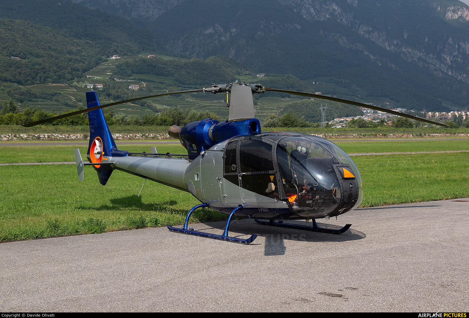 Private I-PNIC aircraft at Trento - Mattarello