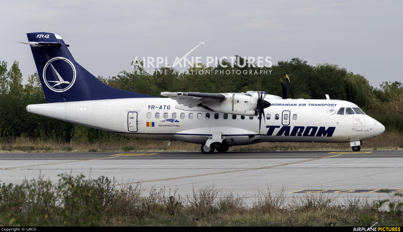 Tarom YR-ATG aircraft at Craiova