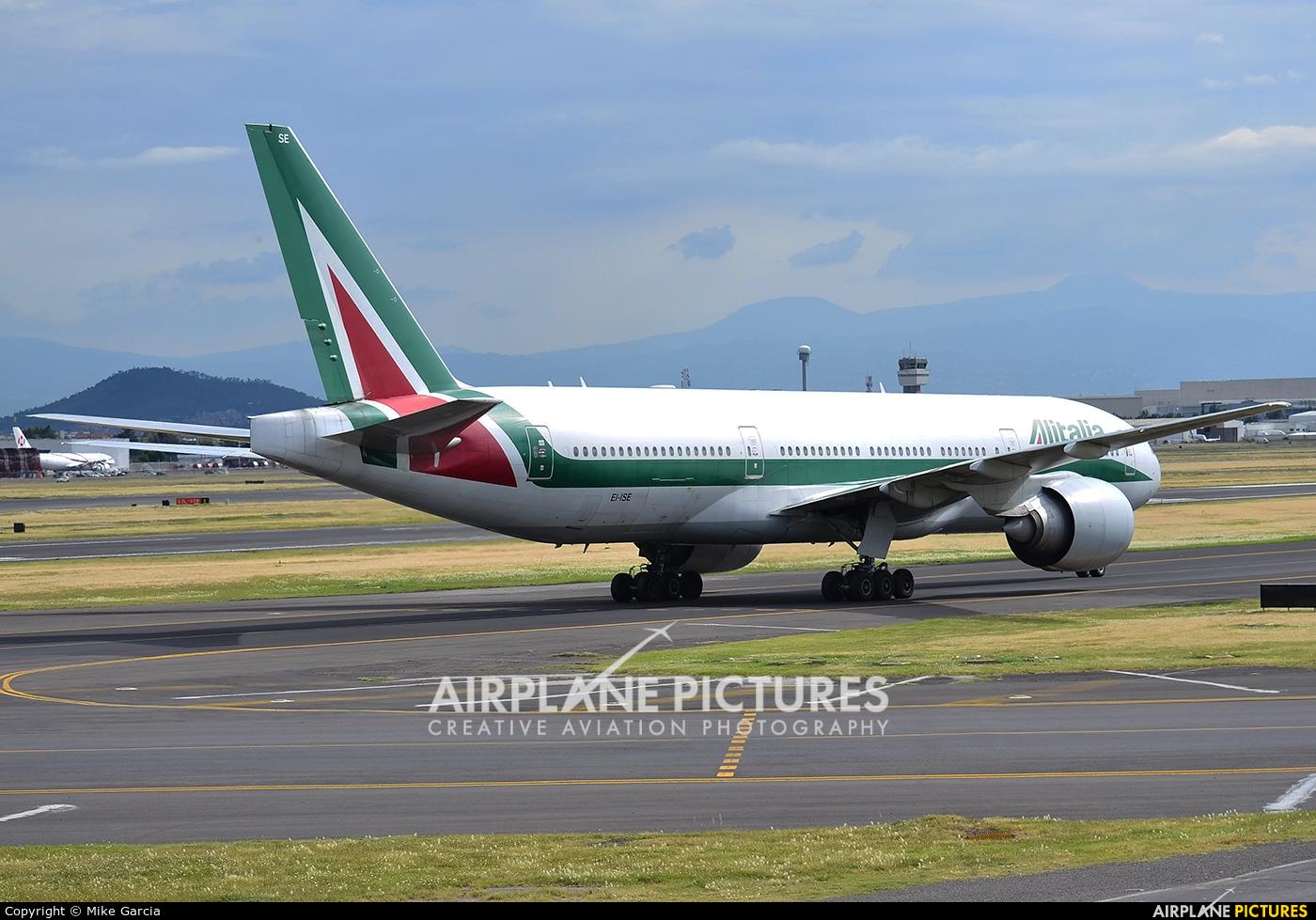 Alitalia EI-ISE aircraft at Mexico City - Licenciado Benito Juarez Intl