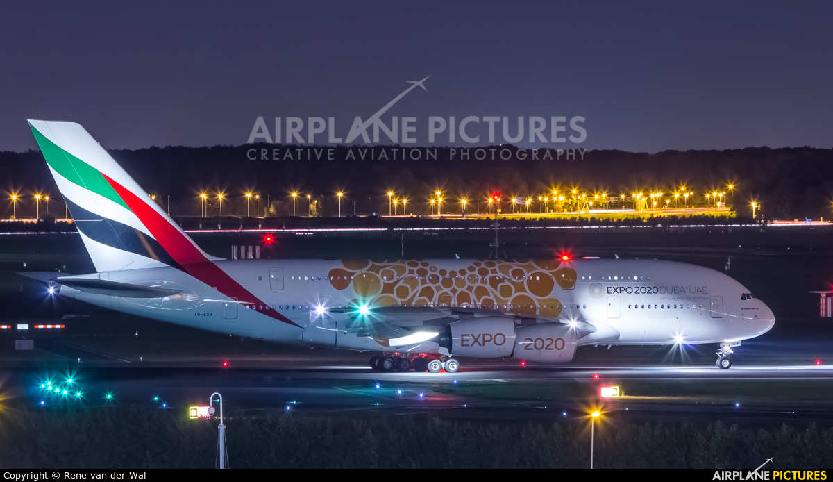 Emirates Airlines A6-EEA aircraft at Amsterdam - Schiphol