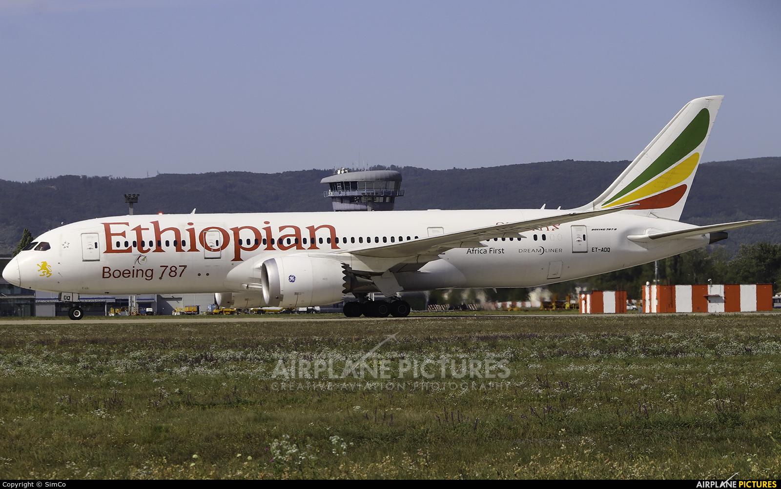 Ethiopian Airlines ET-AOQ aircraft at Bratislava -M. R. Štefánik