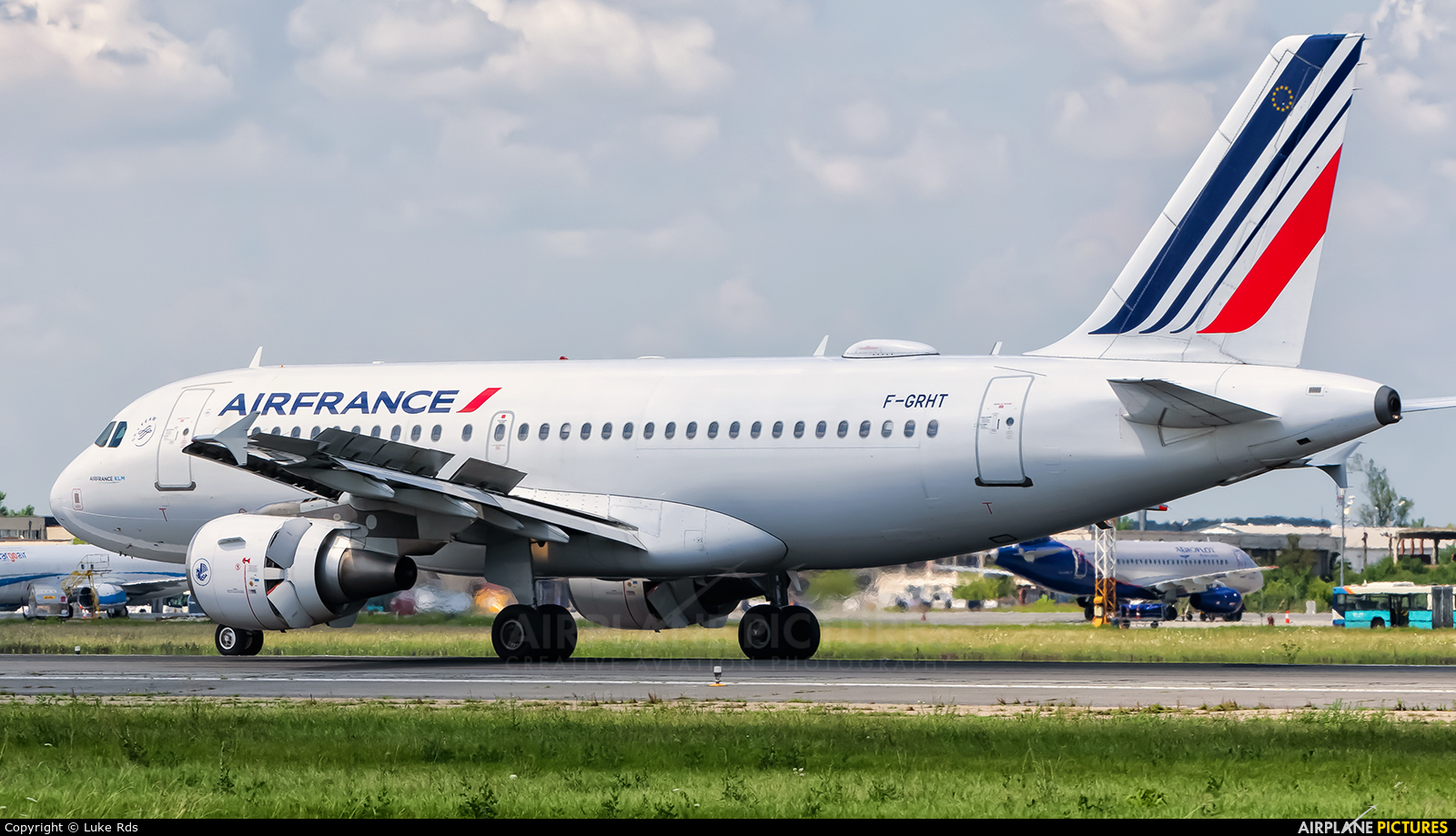Air France F-GRHT aircraft at Bucharest - Henri Coandă
