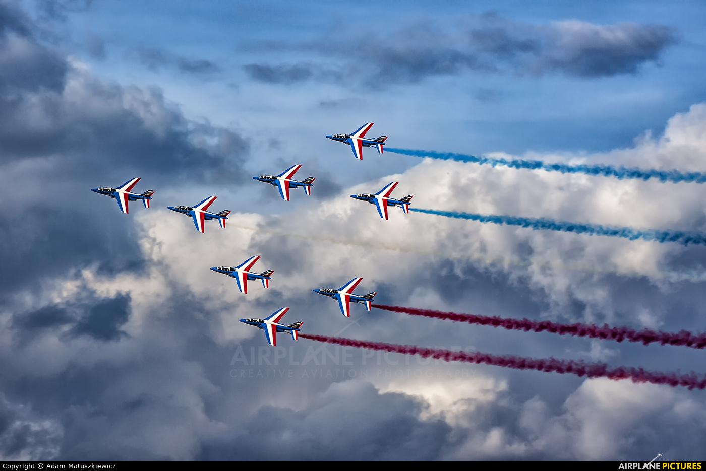 "France - Air Force ""Patrouille de France"" E44 aircraft at Ostrava Mošnov"
