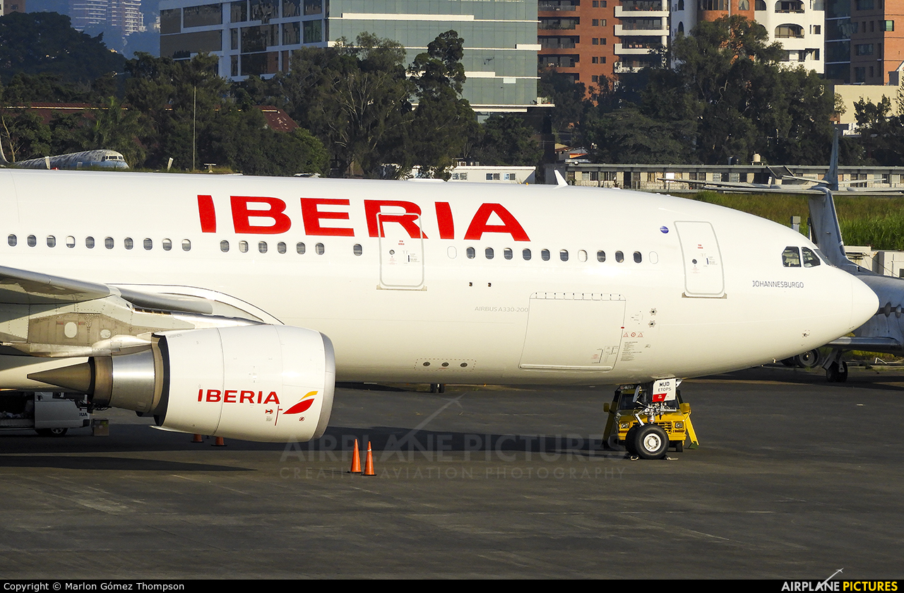 Iberia EC-MUD aircraft at Guatemala - La Aurora