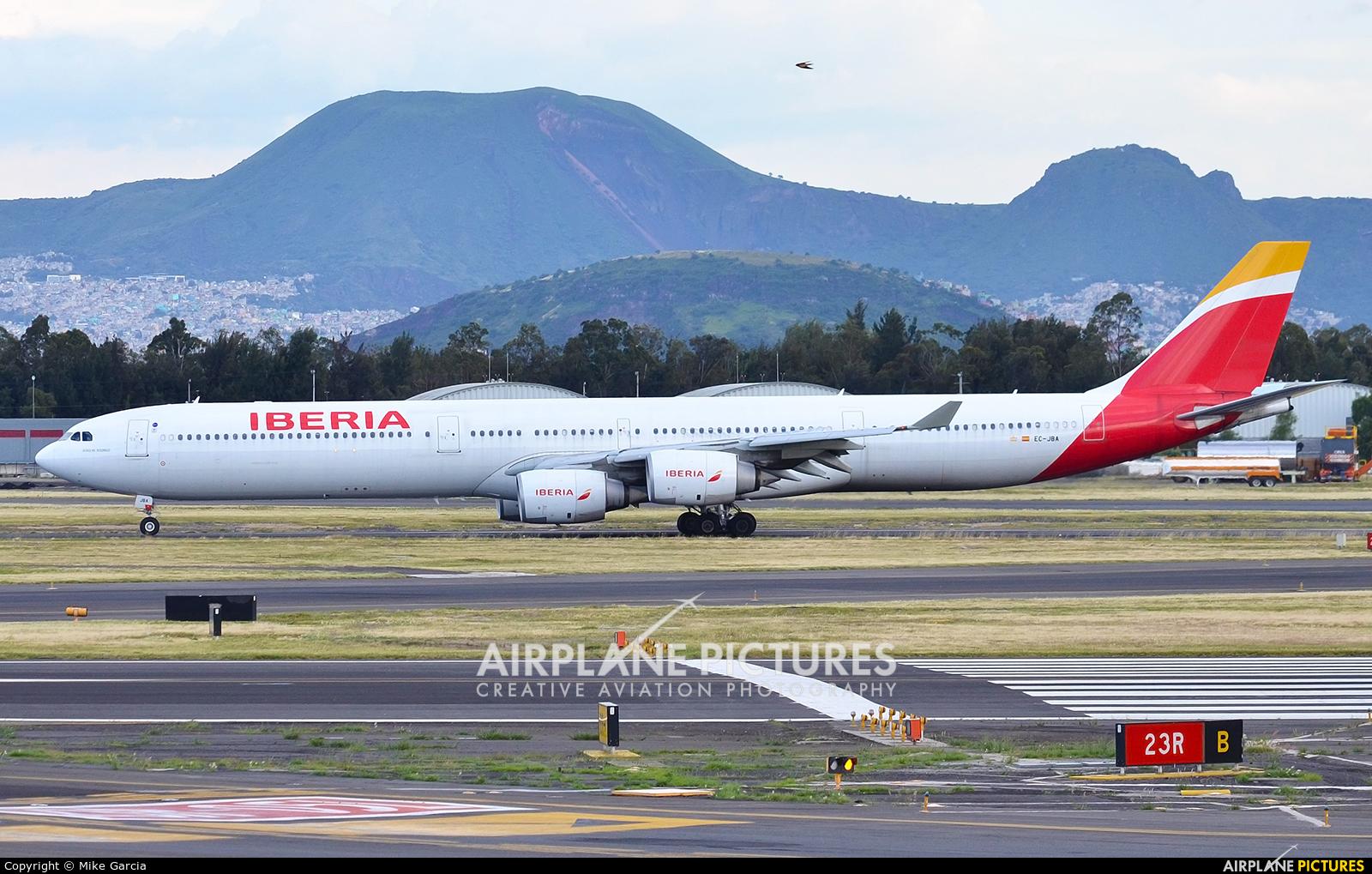Iberia EC-JBA aircraft at Mexico City - Licenciado Benito Juarez Intl