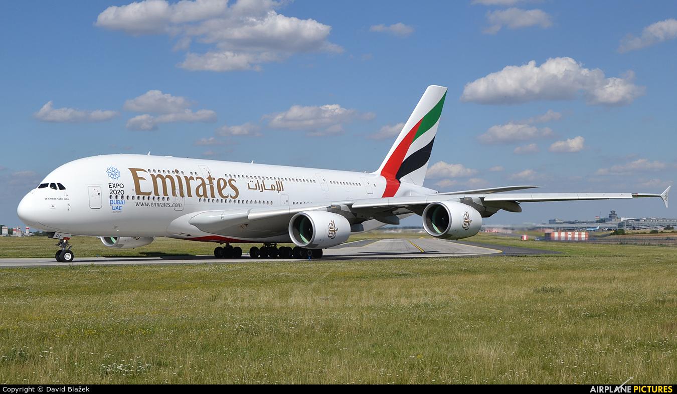 Emirates Airlines A6-EOZ aircraft at Prague - Václav Havel