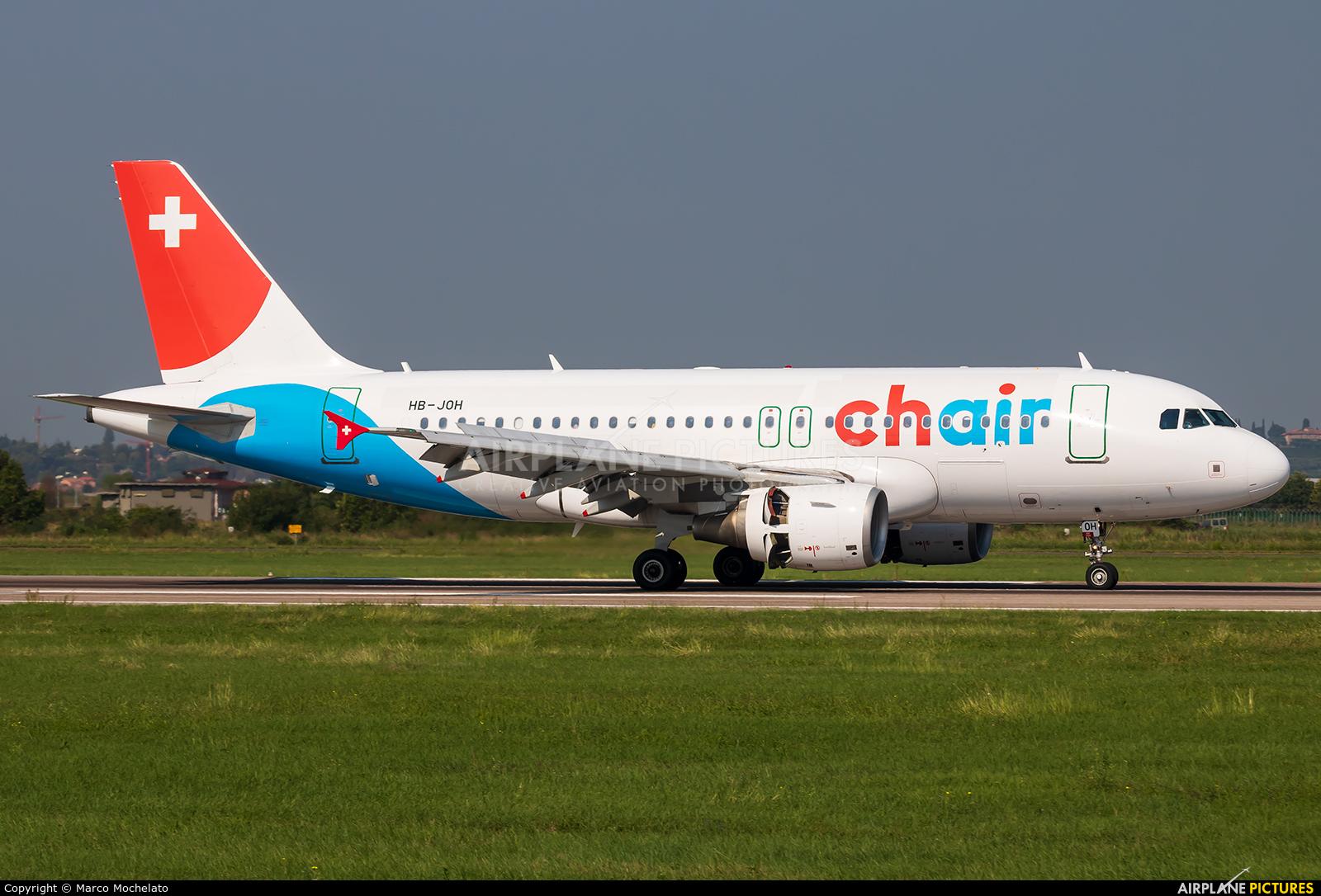 Chair Airlines HB-JOH aircraft at Verona - Villafranca