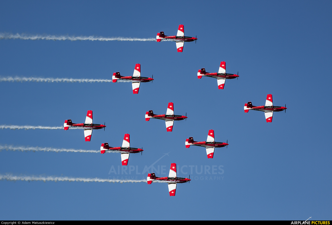 Switzerland - Air Force: PC-7 Team A-915 aircraft at Ostrava Mošnov