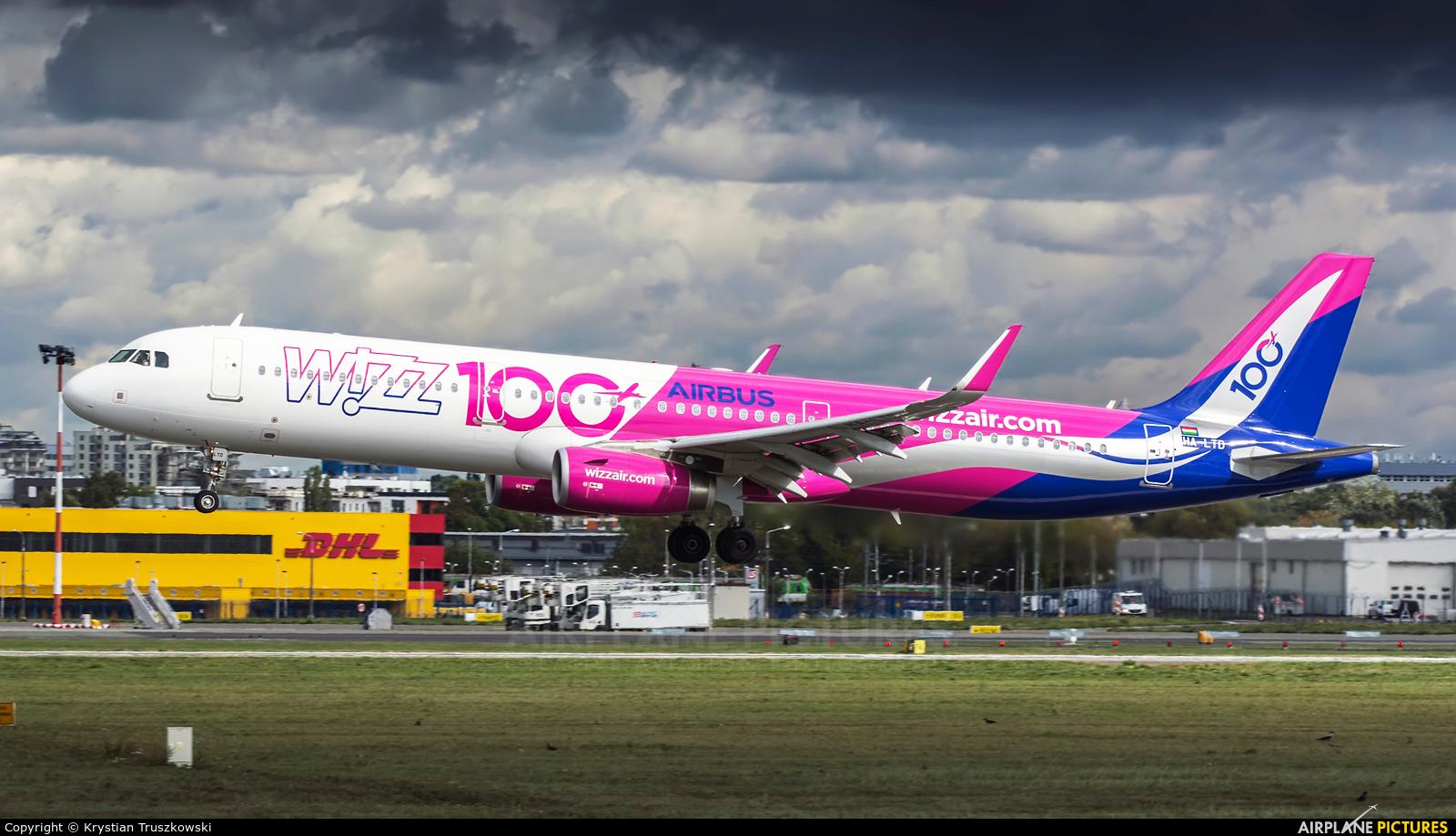 Wizz Air HA-LTD aircraft at Warsaw - Frederic Chopin