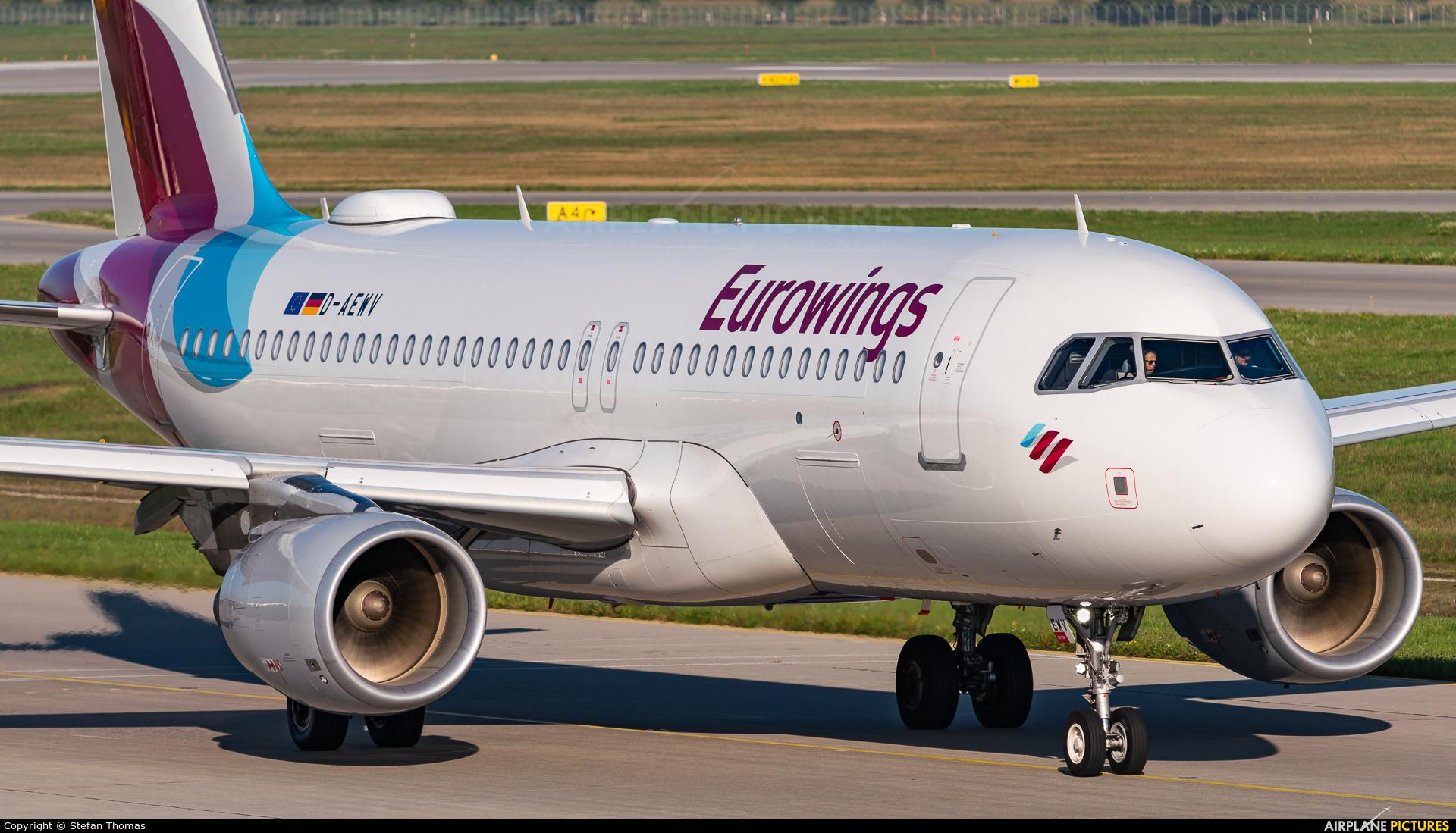 Eurowings D-AEWV aircraft at Munich