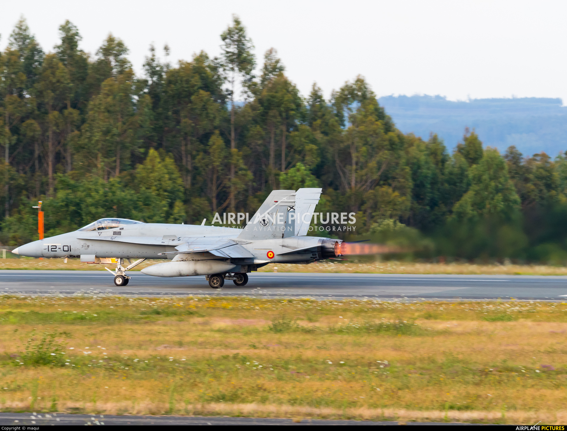 Spain - Air Force C.15-13 aircraft at Santiago de Compostela