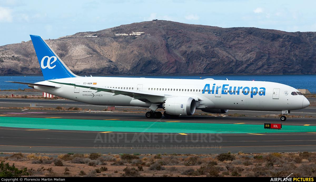 Air Europa EC-NBM aircraft at Aeropuerto de Gran Canaria