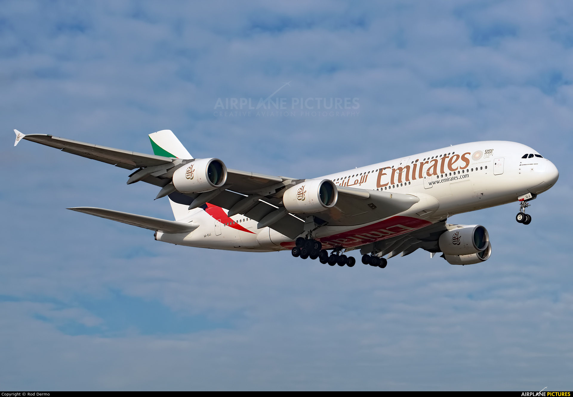 Emirates Airlines A6-EUJ aircraft at Toronto - Pearson Intl, ON