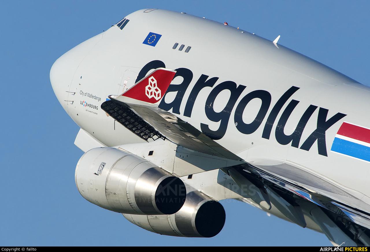 Cargolux LX-VCV aircraft at Budapest Ferenc Liszt International Airport