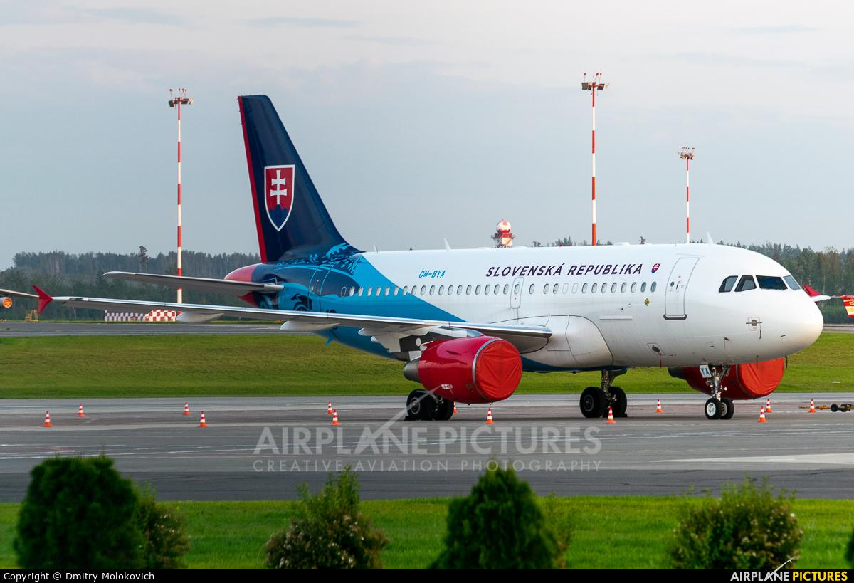 Slovakia - Government OM-BYA aircraft at Minsk Intl