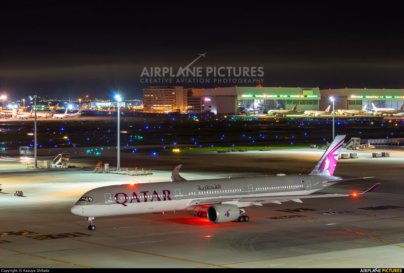 Qatar Airways A7-ANF aircraft at Tokyo - Haneda Intl