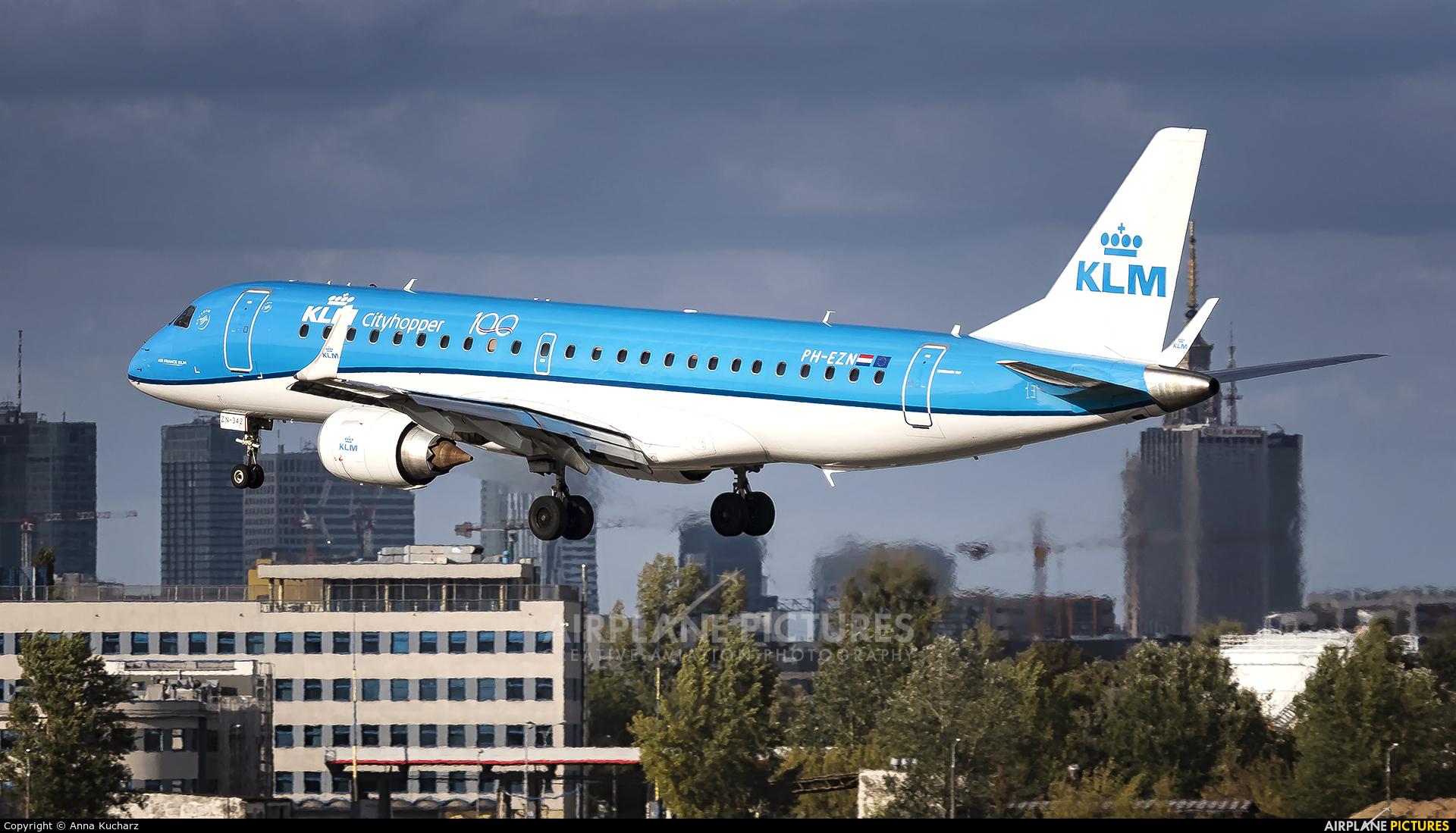 KLM Cityhopper PH-EZN aircraft at Warsaw - Frederic Chopin