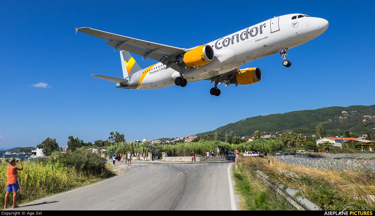 Condor D-AICC aircraft at Skiathos