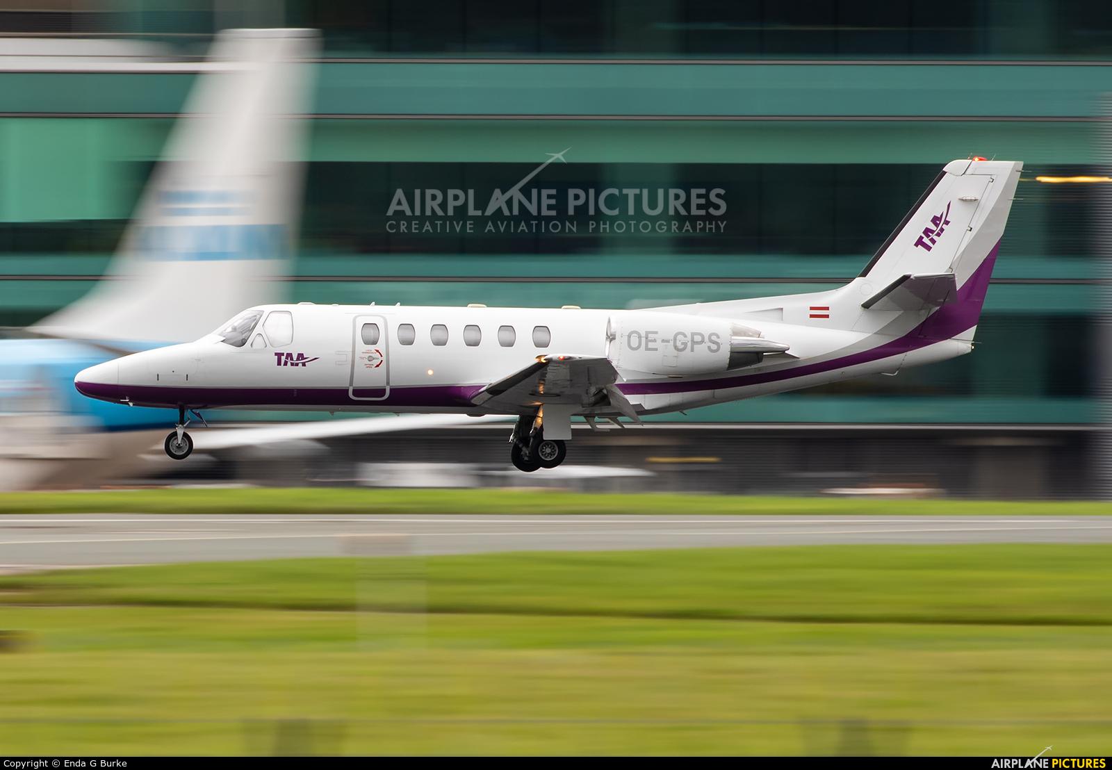 Tyrol Air Ambulance OE-GPS aircraft at Manchester