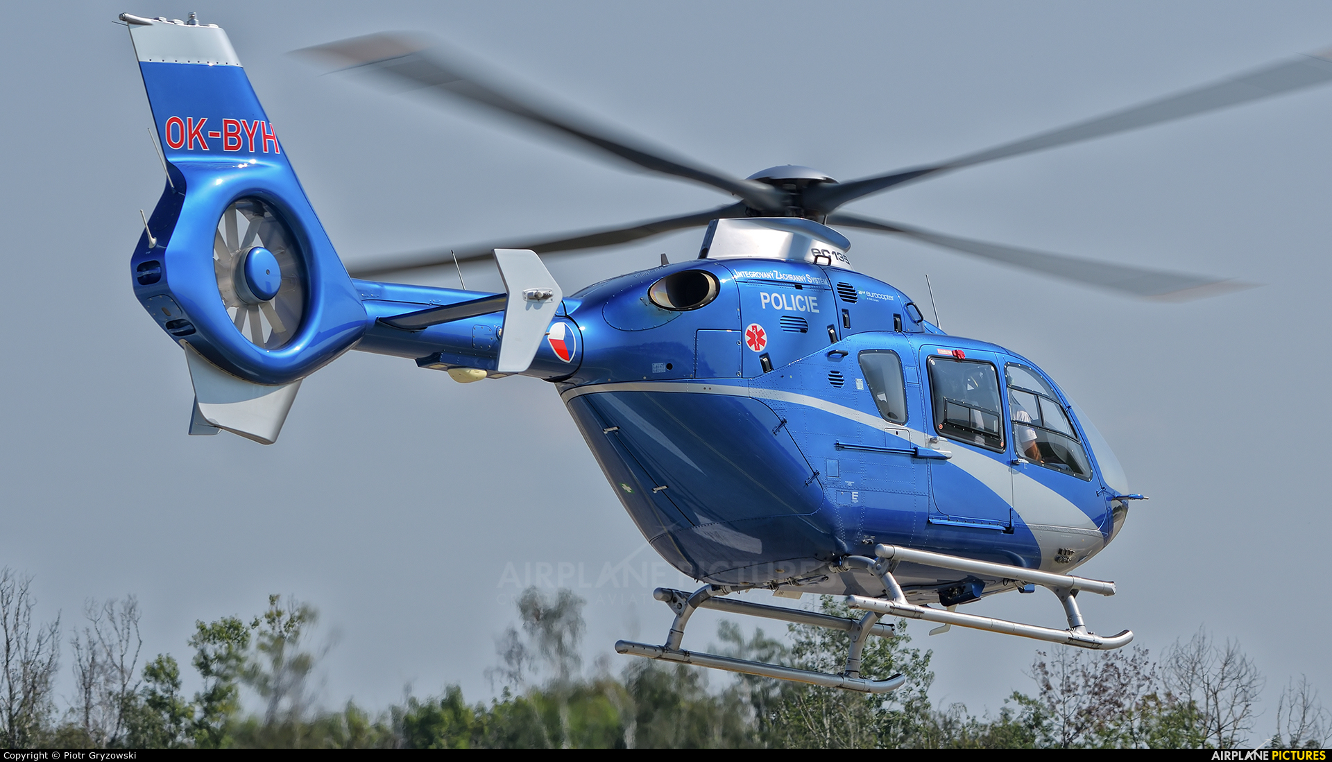 Czech Republic - Police OK-BYH aircraft at Hradec Králové