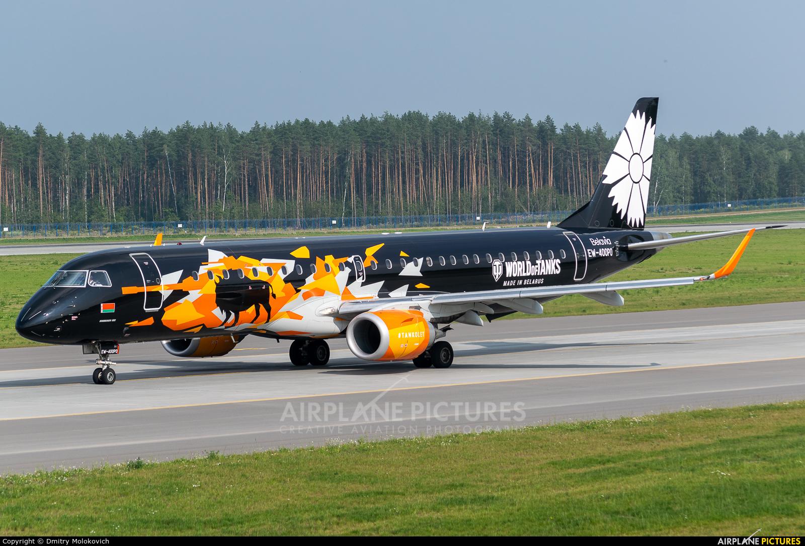 Belavia EW-400PO aircraft at Minsk Intl