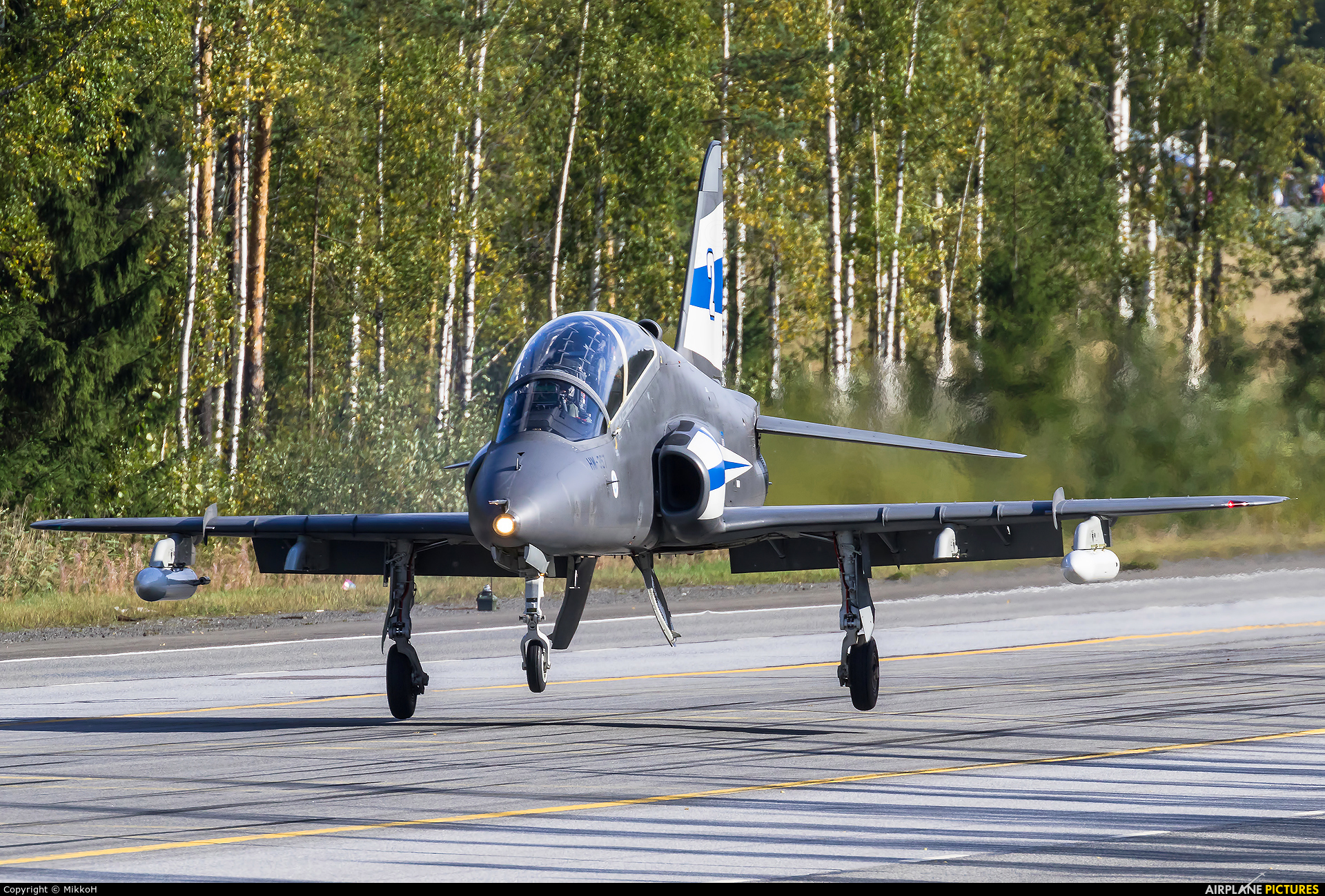 Finland - Air Force: Midnight Hawks HW-357 aircraft at Off Airport - Lusi Highway Strip