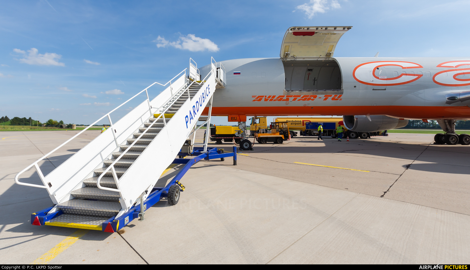 Aviastar-Tu VQ-BBU aircraft at Pardubice