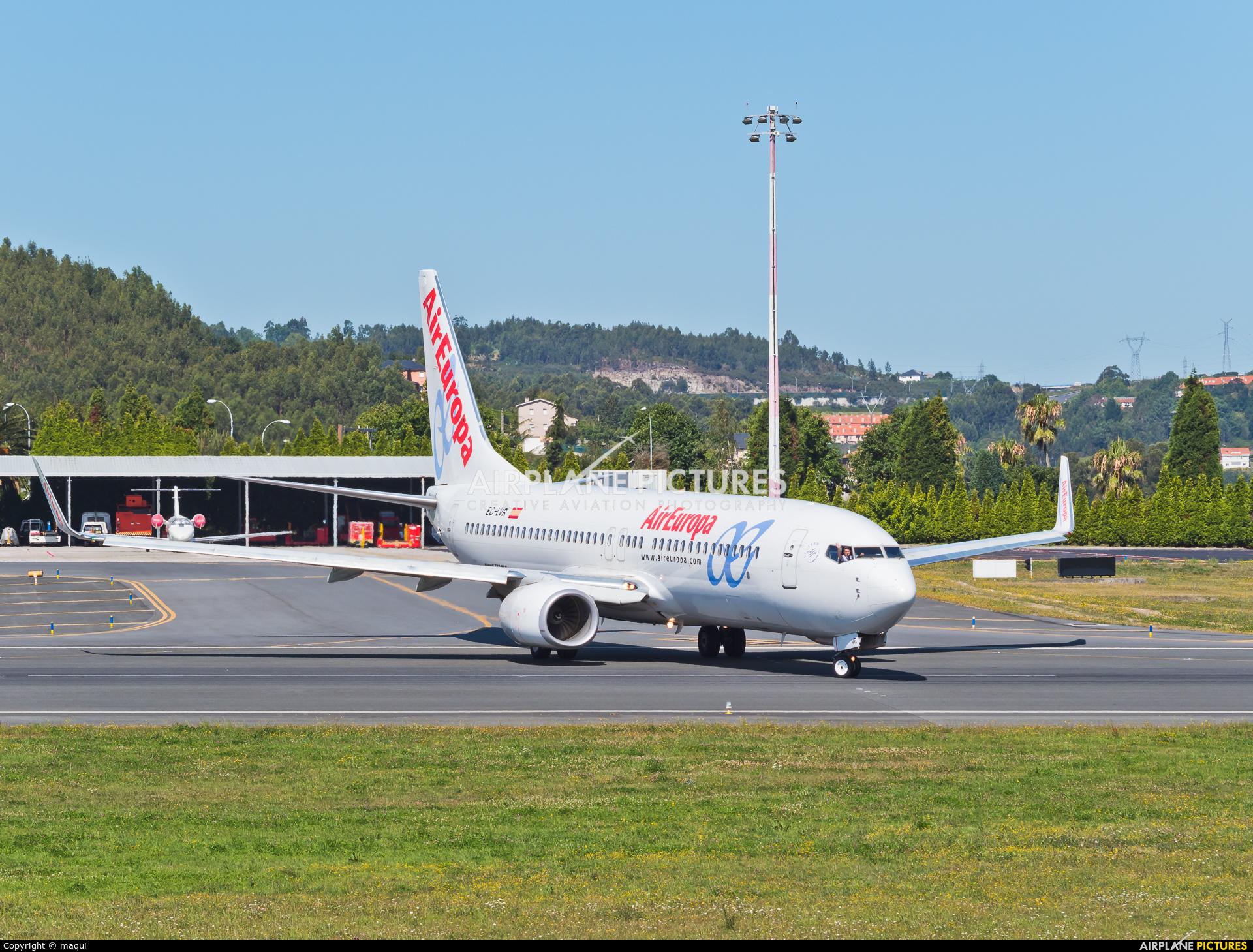 Air Europa EC-LVR aircraft at La Coruña